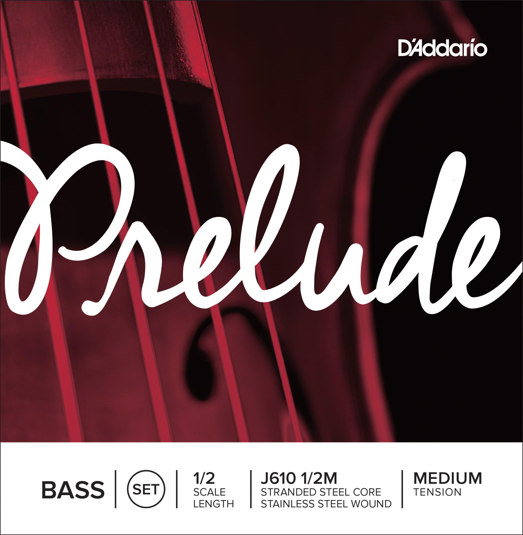 D'Addario Prelude Bass String Set 1/2 Scale Medium Tension
