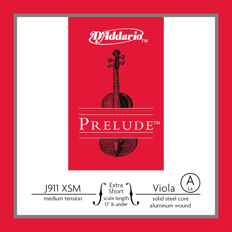 D'Addario Prelude Viola Single A String, Extra Short Scale, Medium Tension