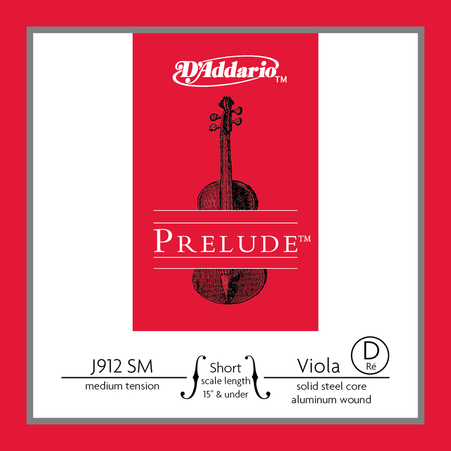 D'Addario Prelude Viola Single D String, Short Scale, Medium Tension