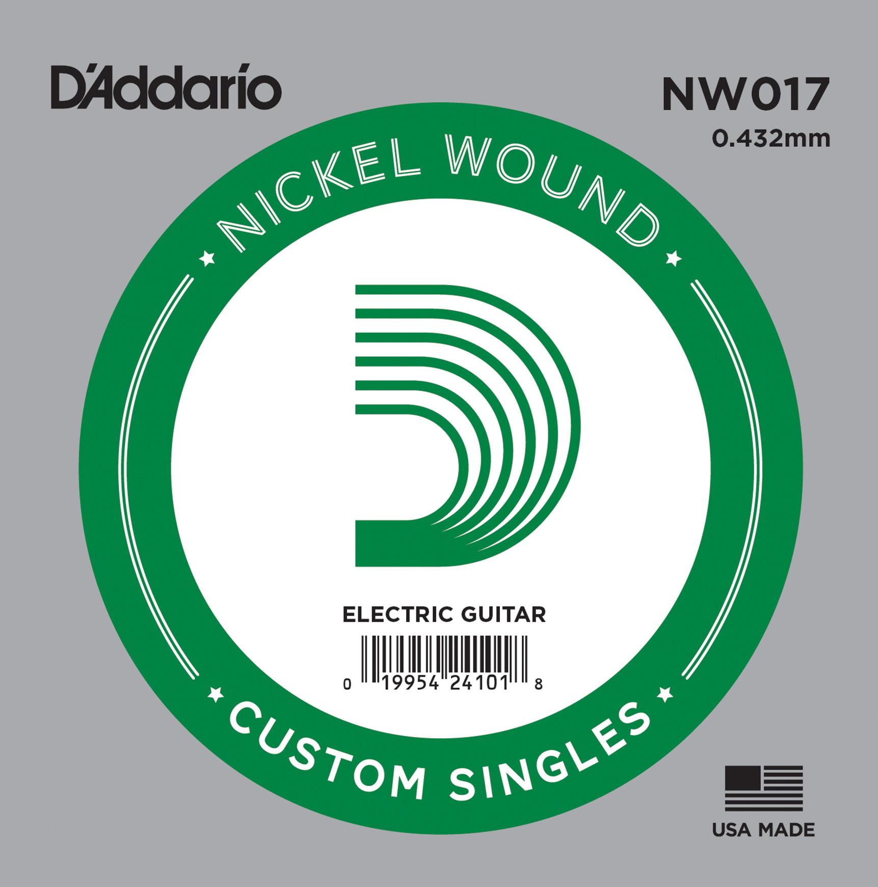 D'Addario NW017 Nickel Wound Electric Guitar Single String .017