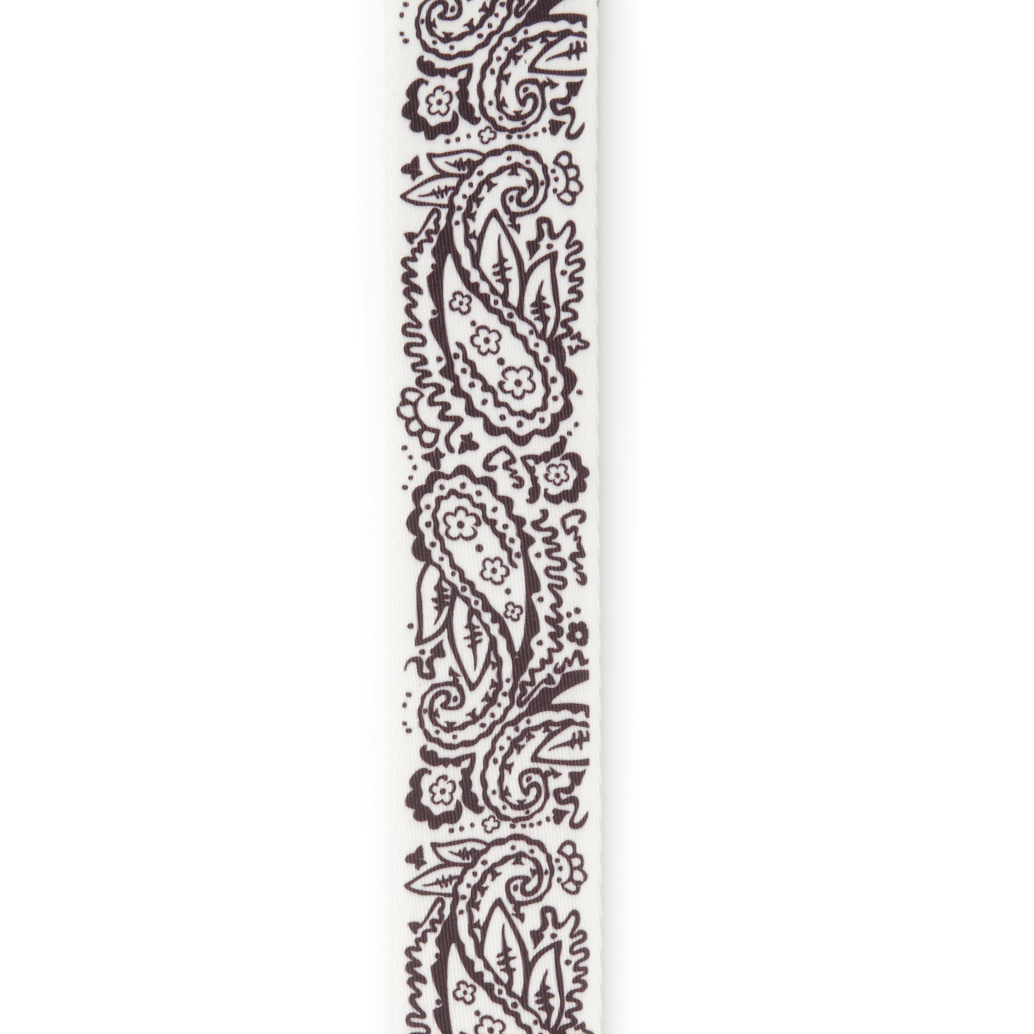 2 Woven Guitar Strap, Paisley - White, by D'Addario
