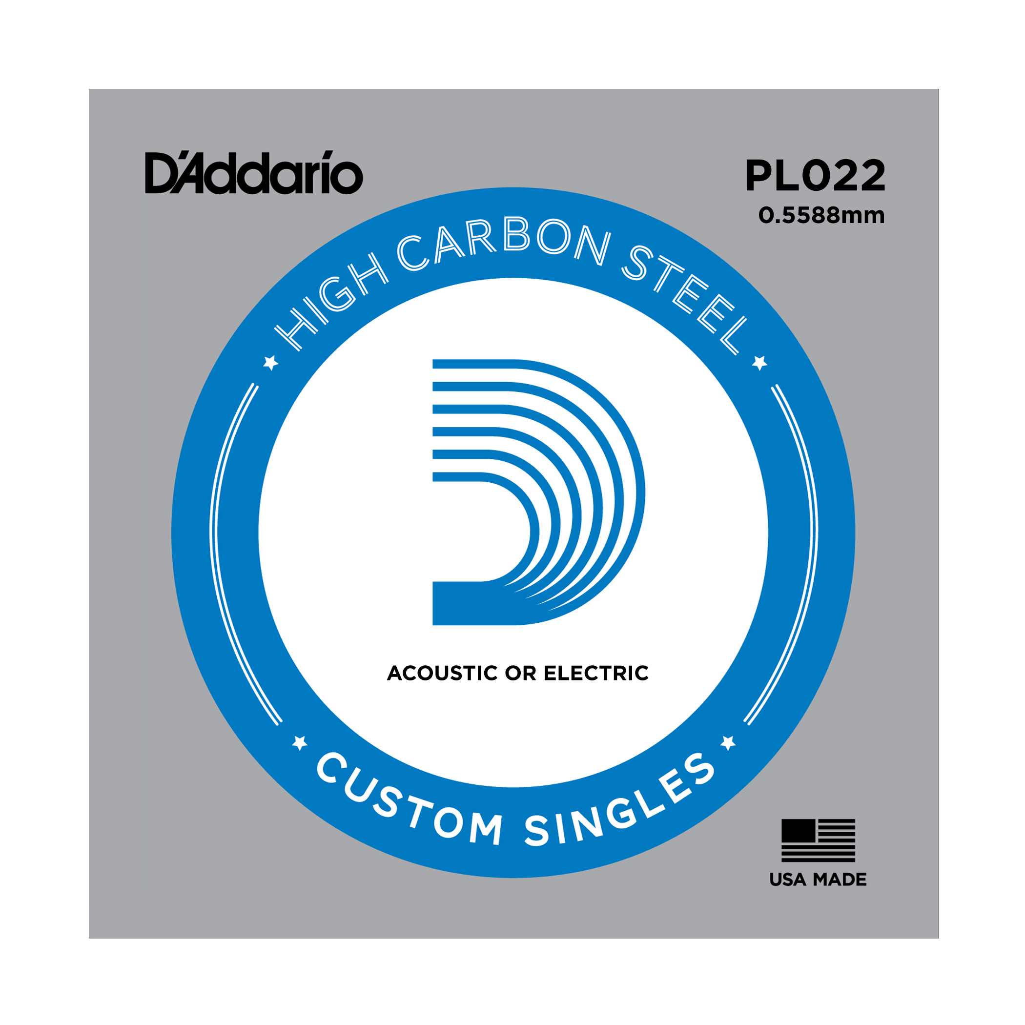 D'addario plain singles