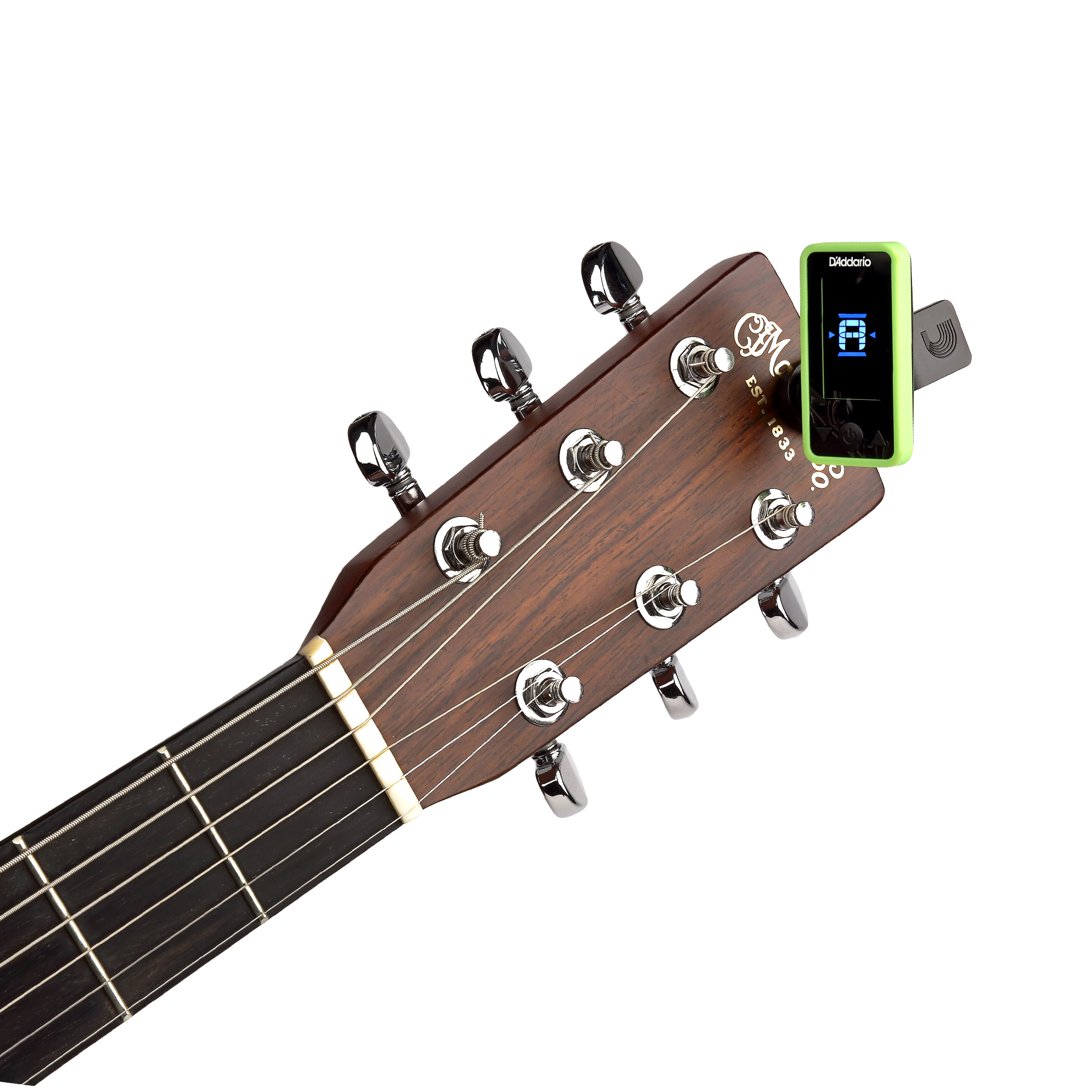 D'Addario Eclipse Headstock Tuner, Green