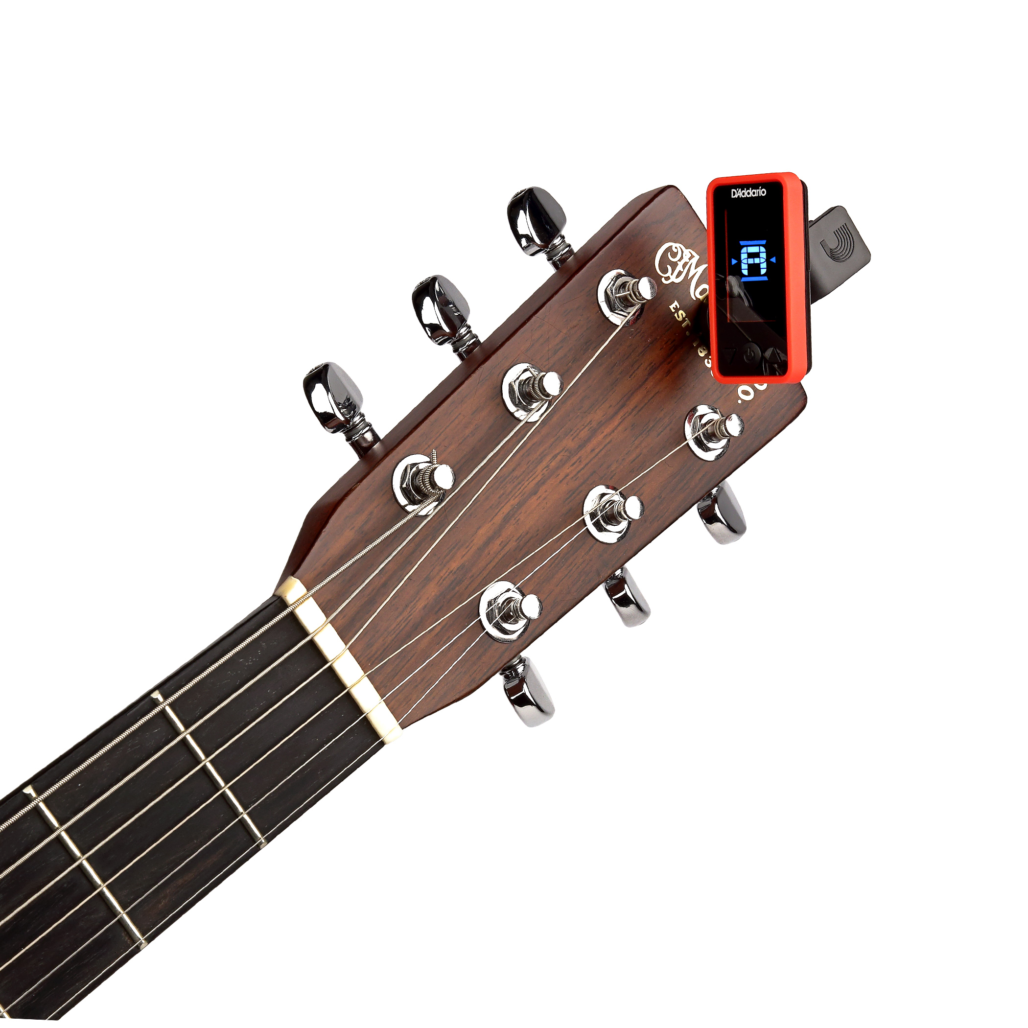 D'Addario Eclipse Headstock Tuner Red