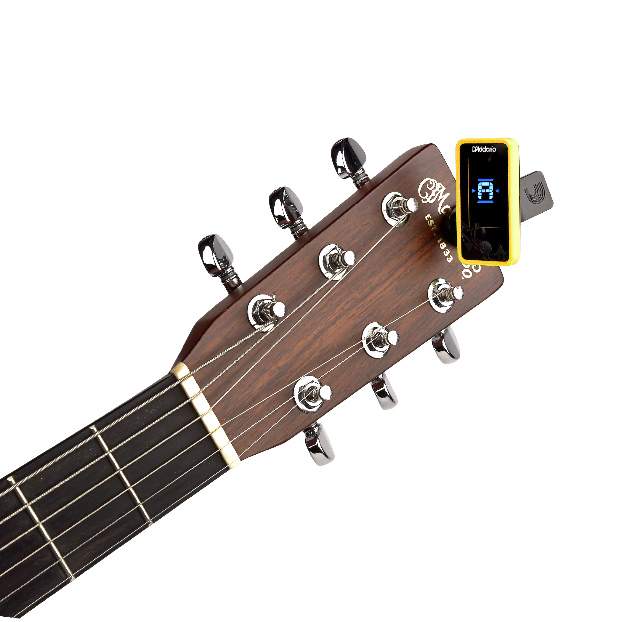 D'Addario Eclipse Headstock Tuner Yellow