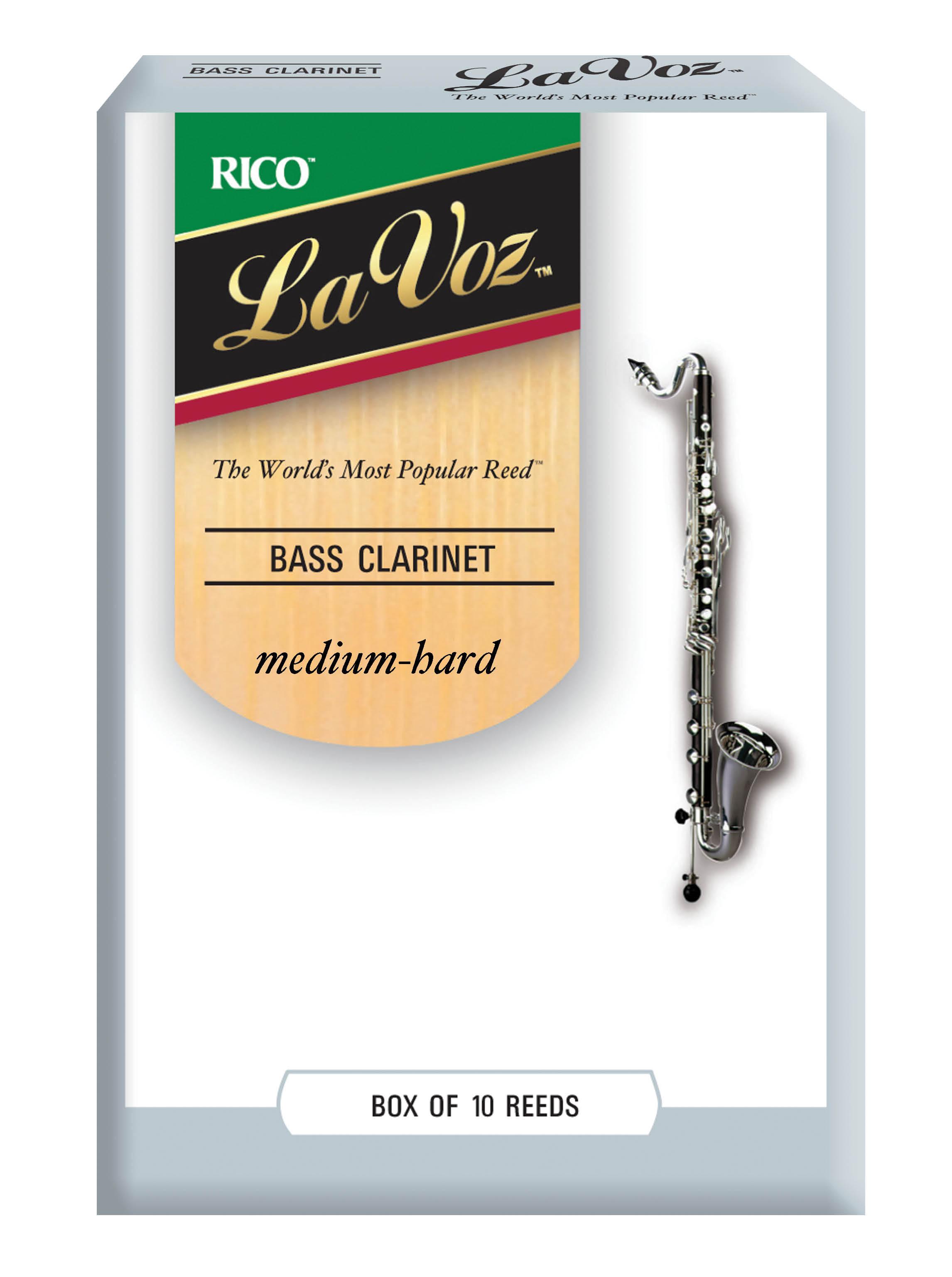 La Voz Med Hard Bass Clarinet Reeds