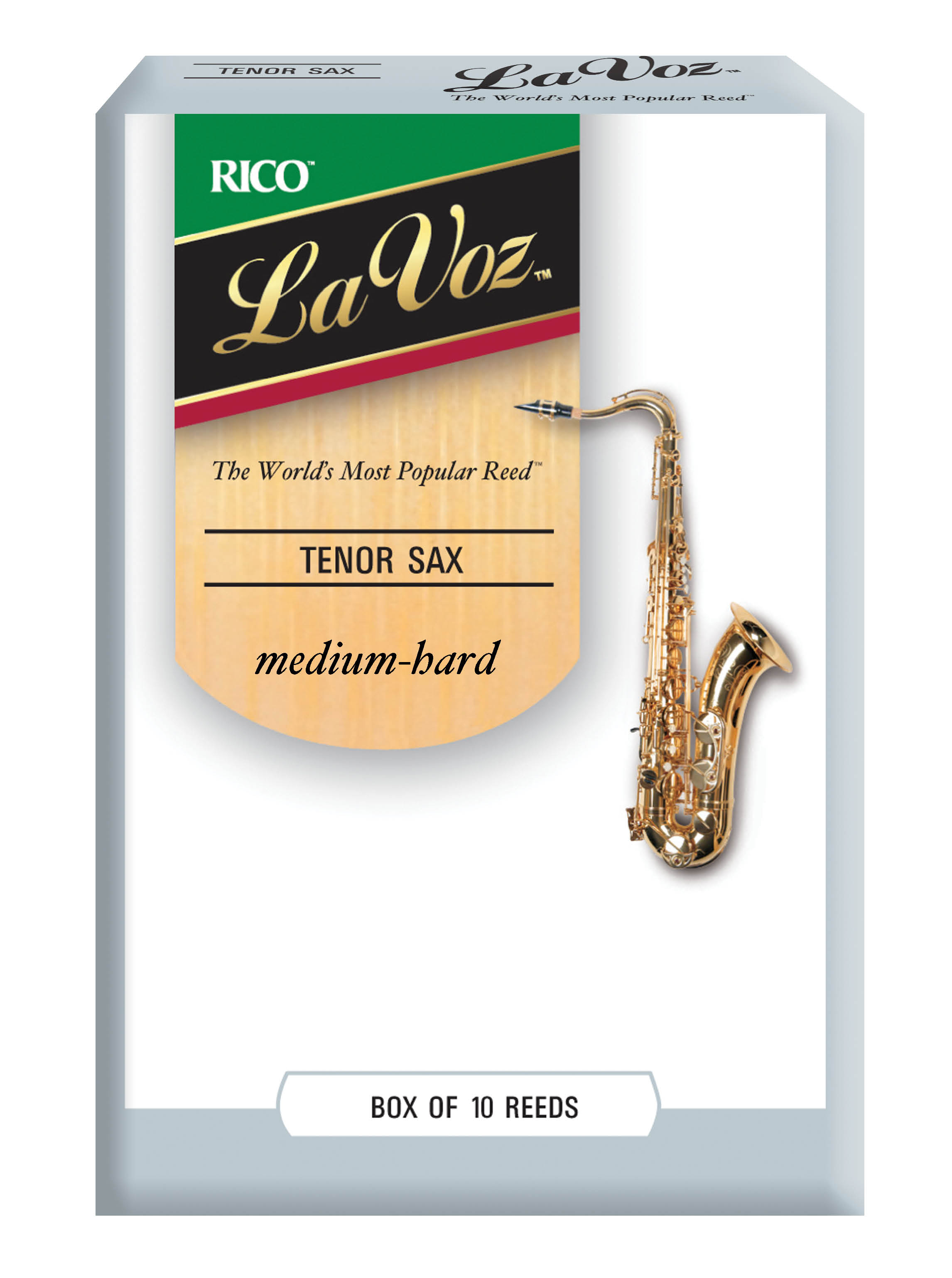 La Voz Med Hard Tenor Sax Reeds