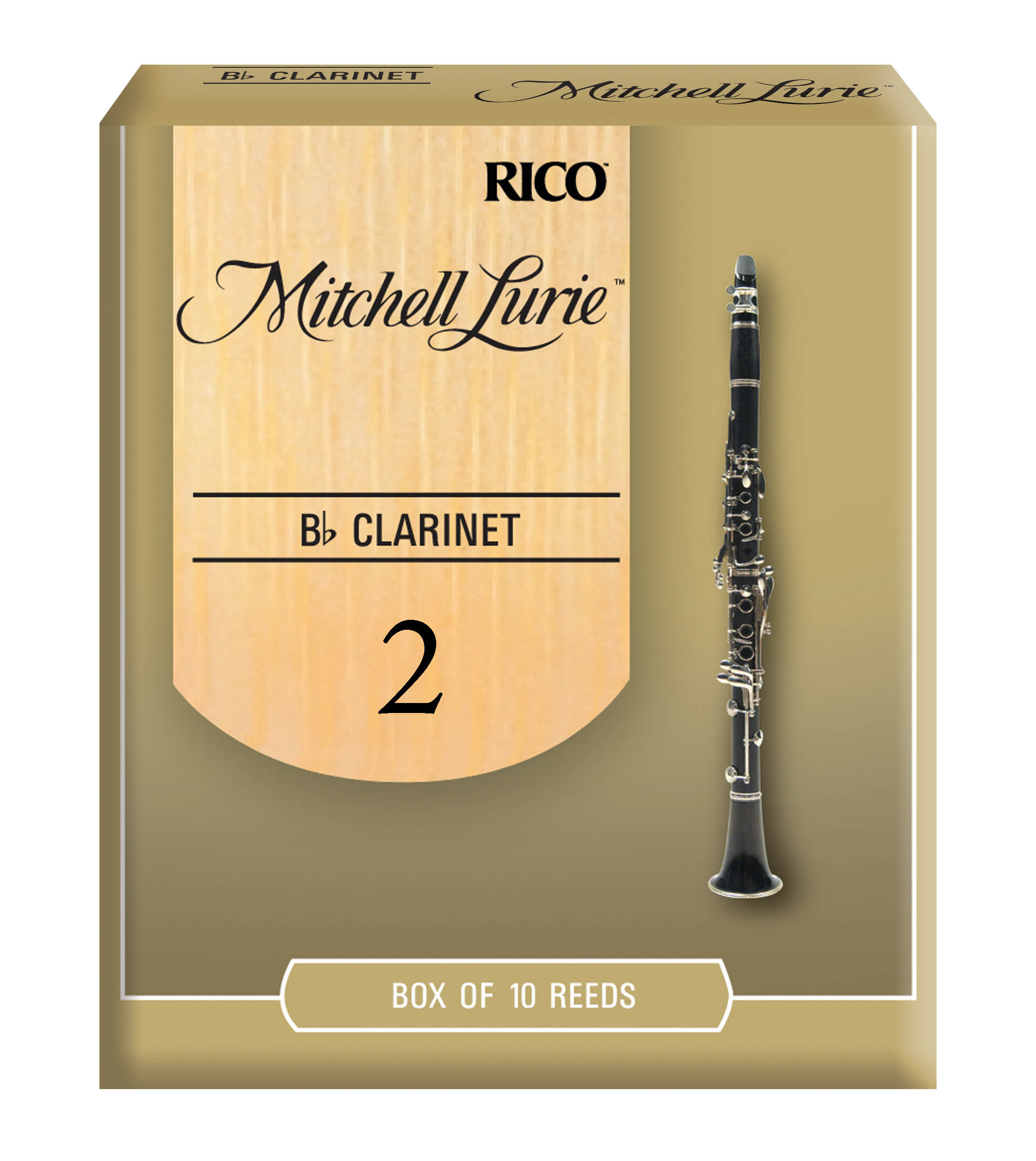 Mitchell Lurie Bb Clarinet Reeds Strength 2.0 10-pack