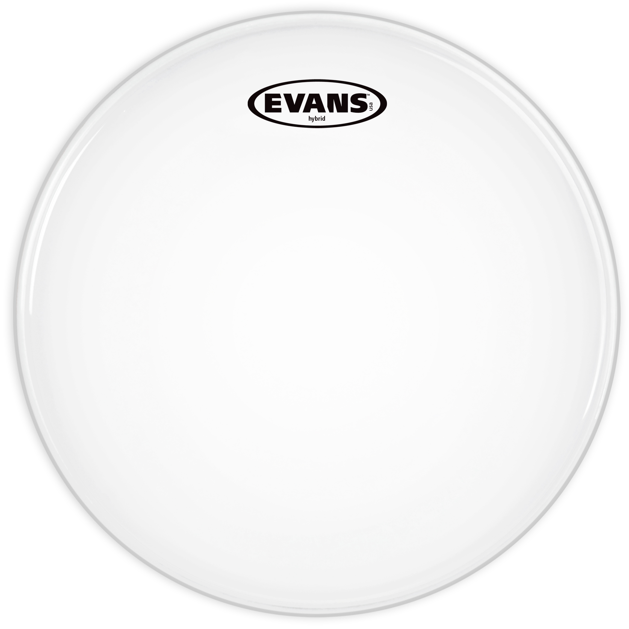 Evans Hybrid White Marching Snare Drum Head 13 Inch