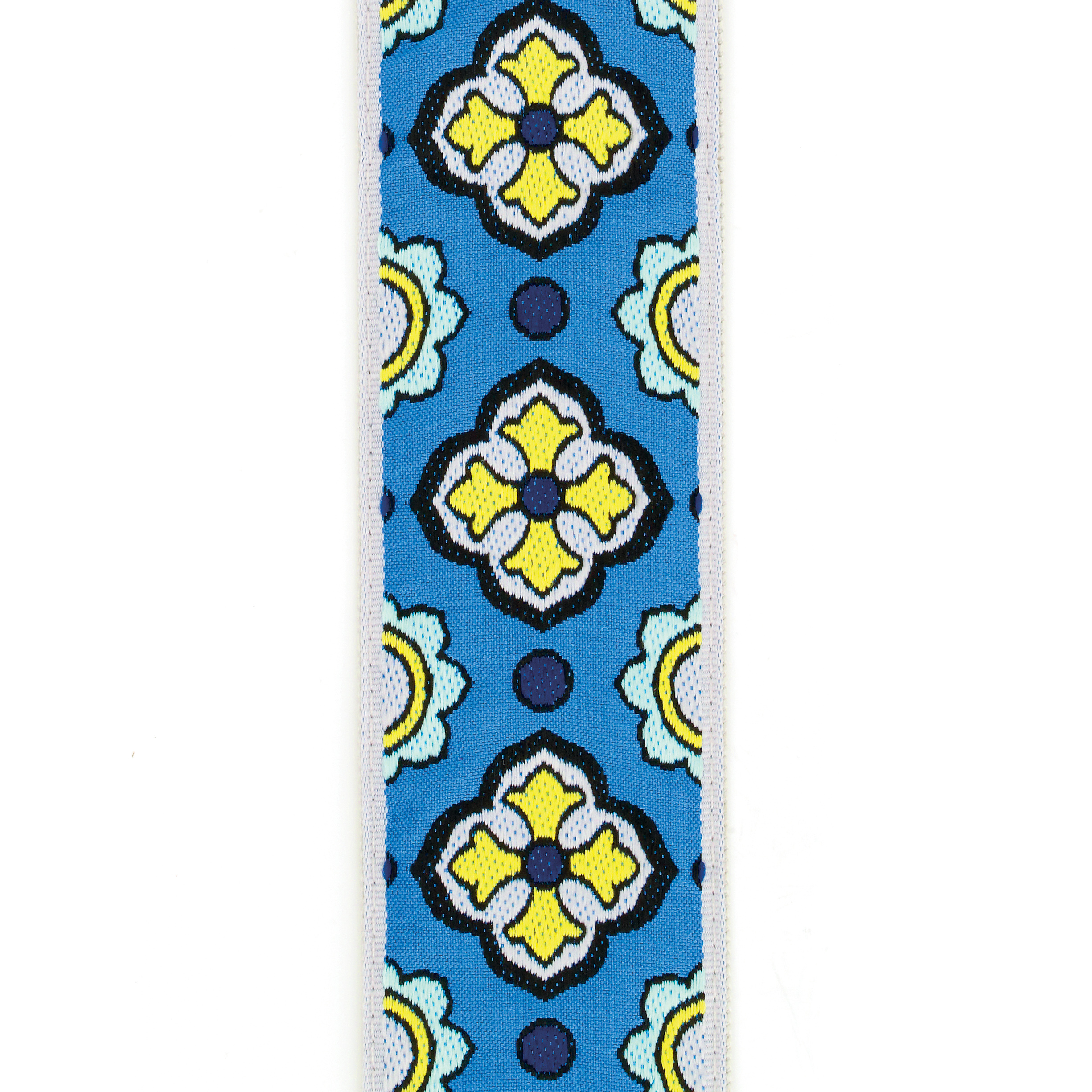 Latin Tile Art Guitar Strap Blue - by D'Addario
