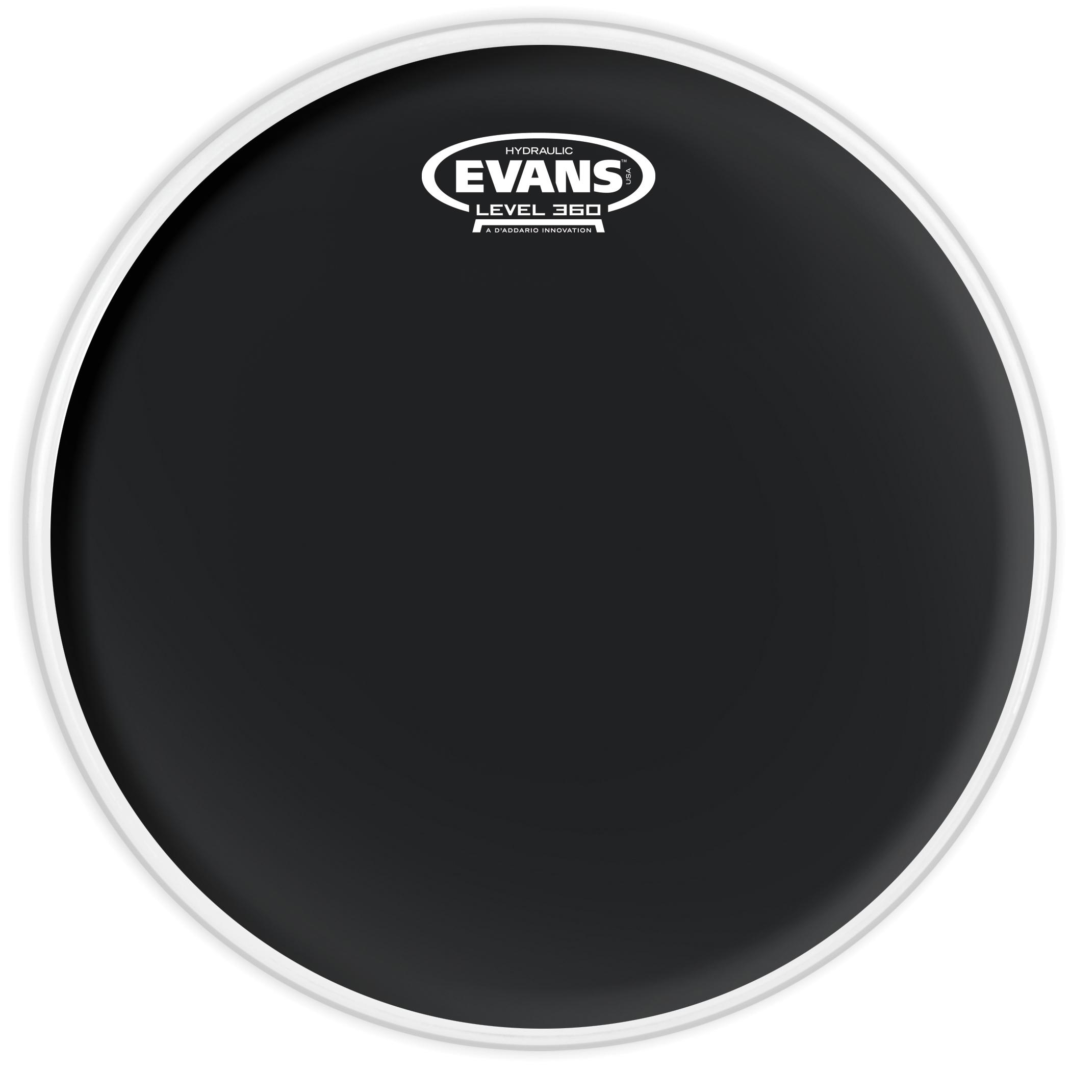 Evans Hydraulic Black Drum Head 10