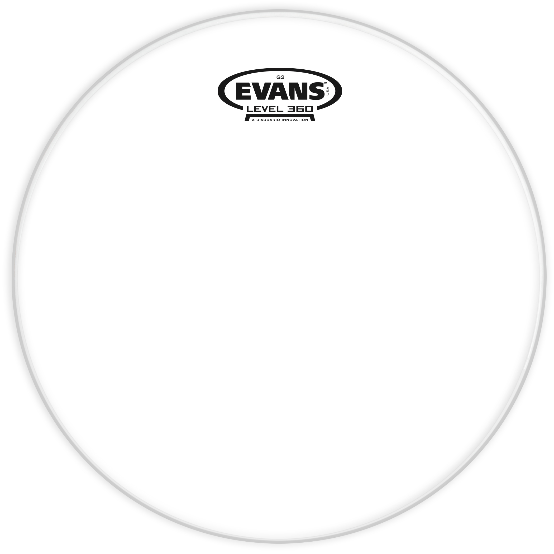 16 CLEAR 2 PLY DRUM HEAD