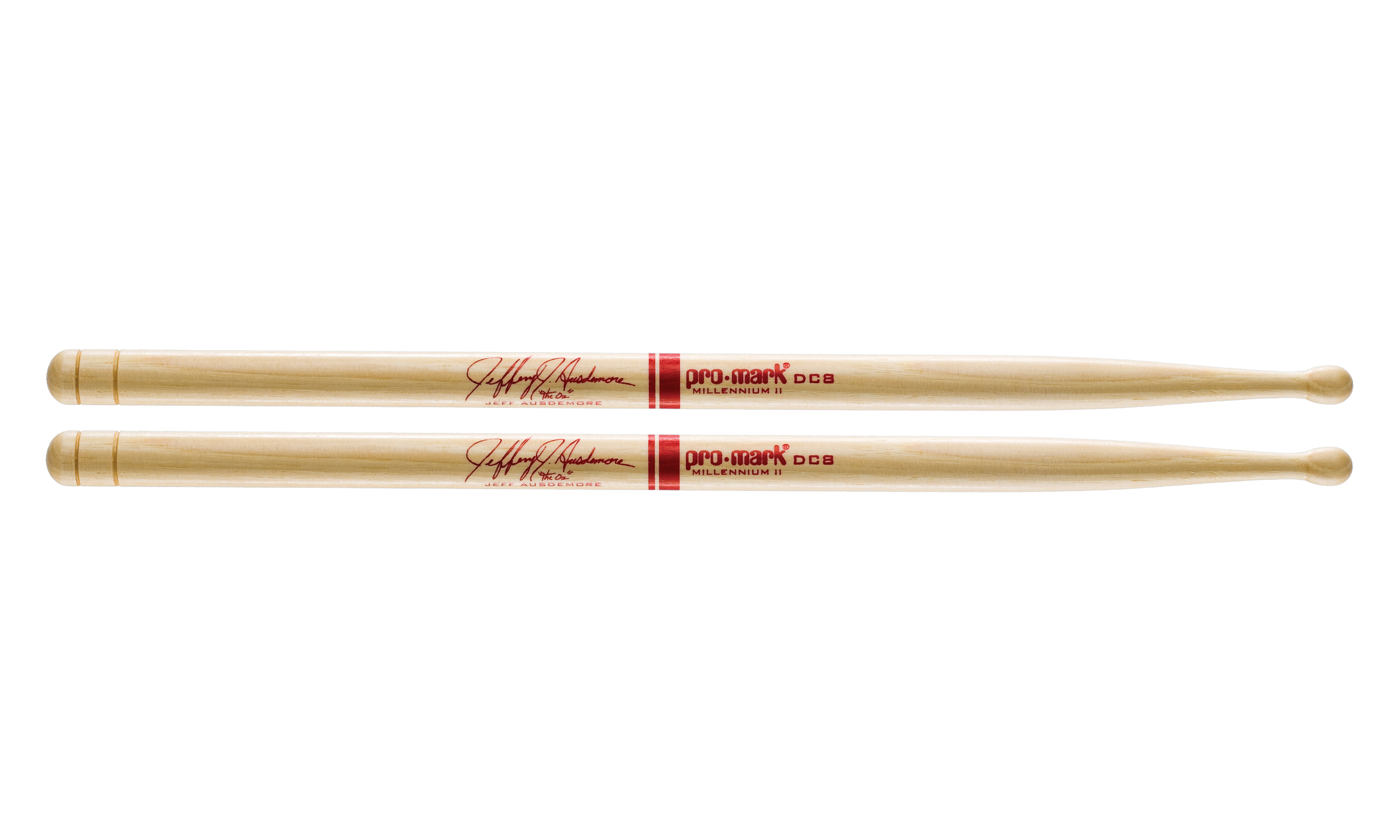 ProMark Hickory DC8 Jeff Ausdemore Wood Tip Drumstick