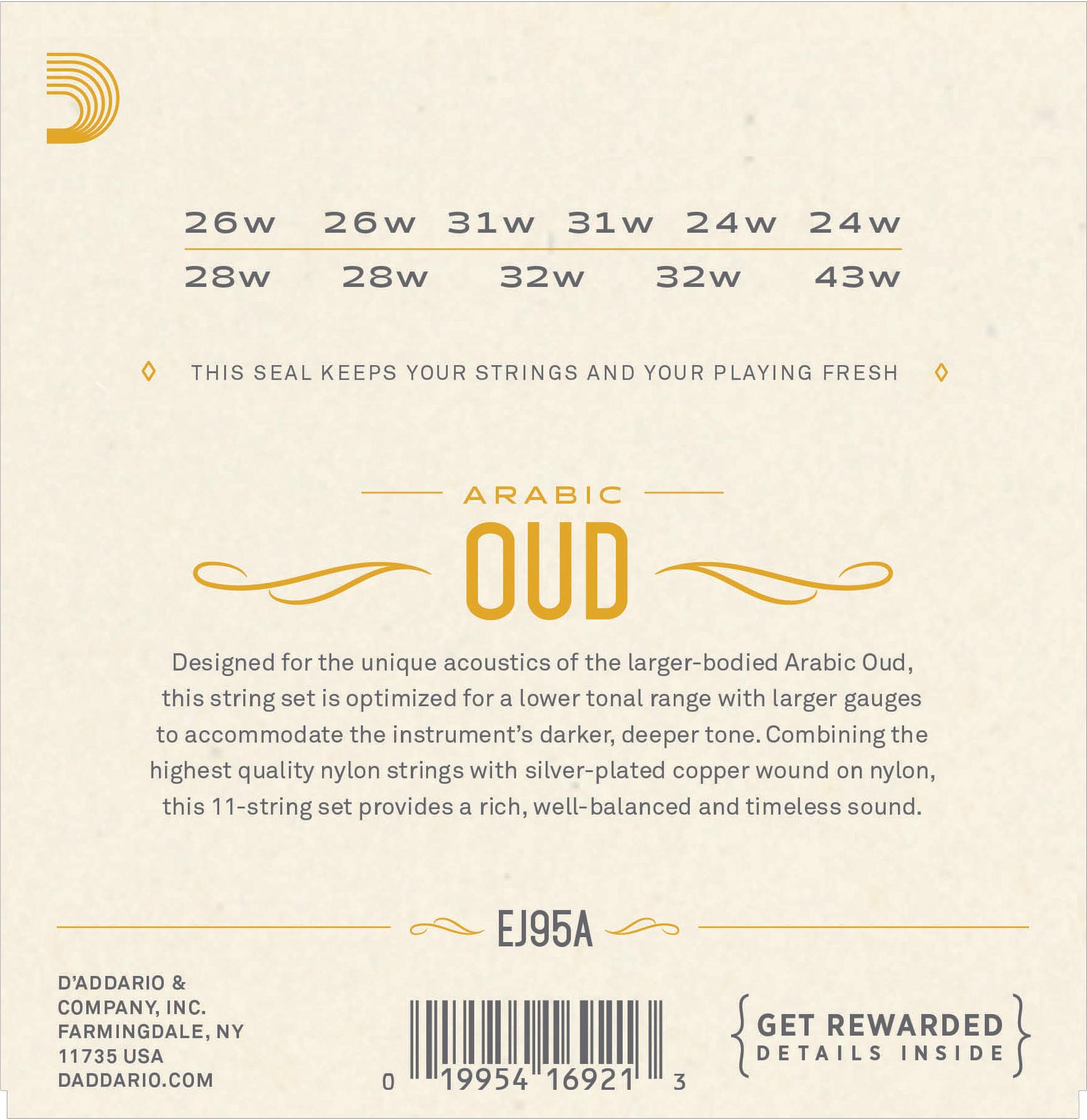 D'Addario EJ95A  Arabic Oud Strings