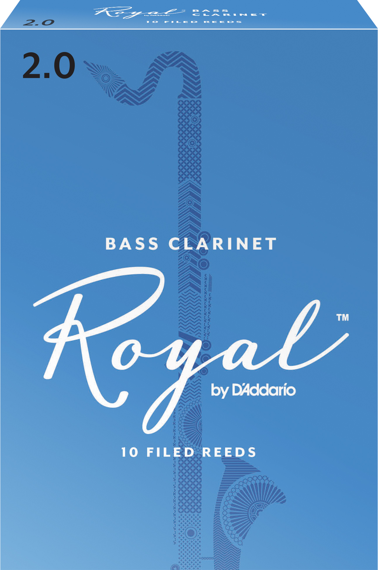 Royal by D'Addario Bass Clarinet Reeds Strength 2 10-pack