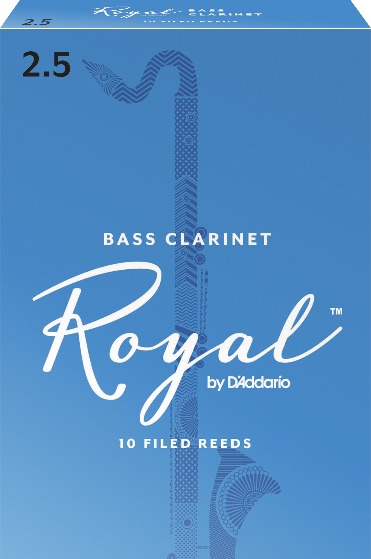 Royal by D'Addario Bass Clarinet Reeds Strength 2.5 10-pack