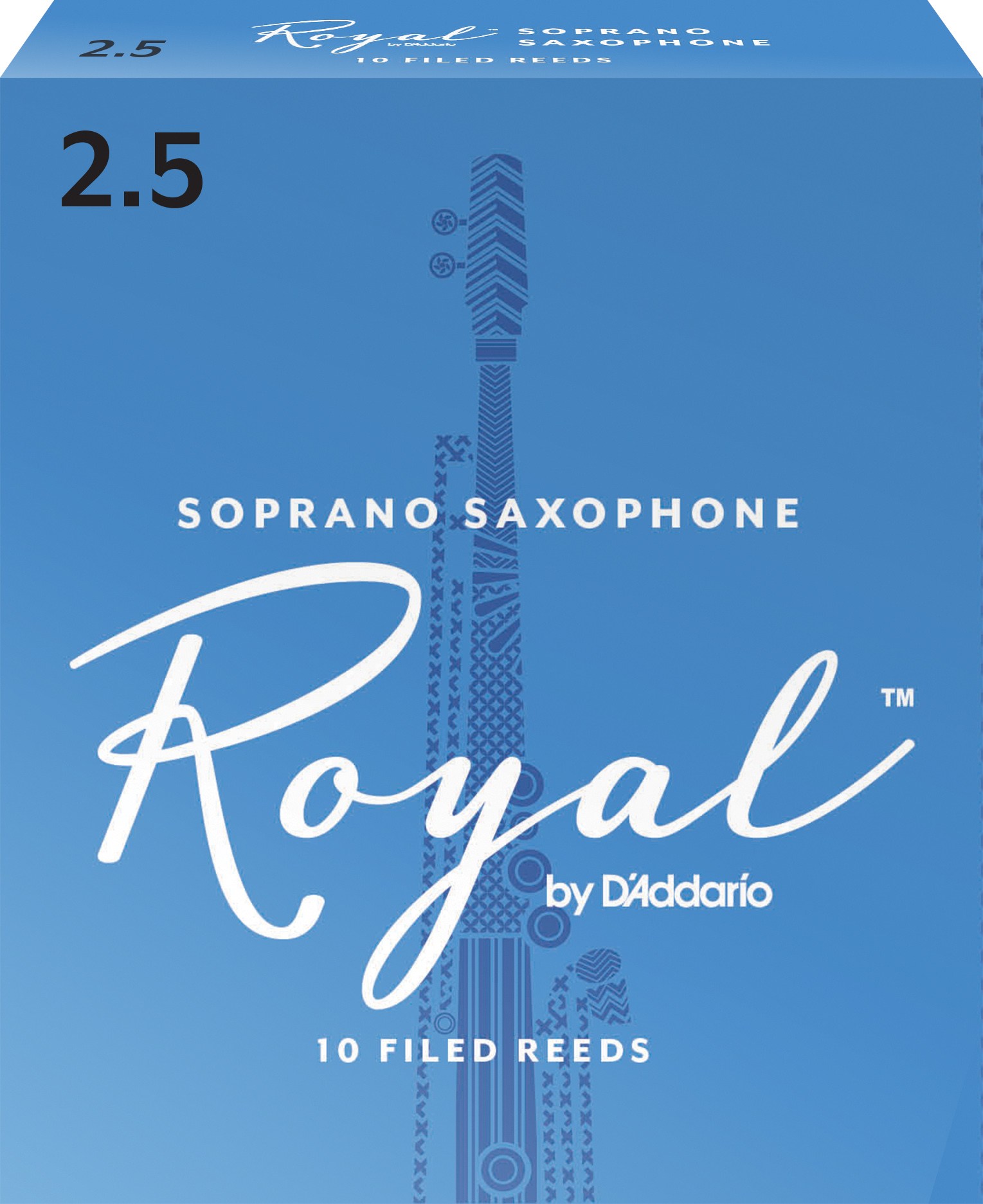 Royal by D'Addario Soprano Sax Reeds Strength 2.5 10-pack