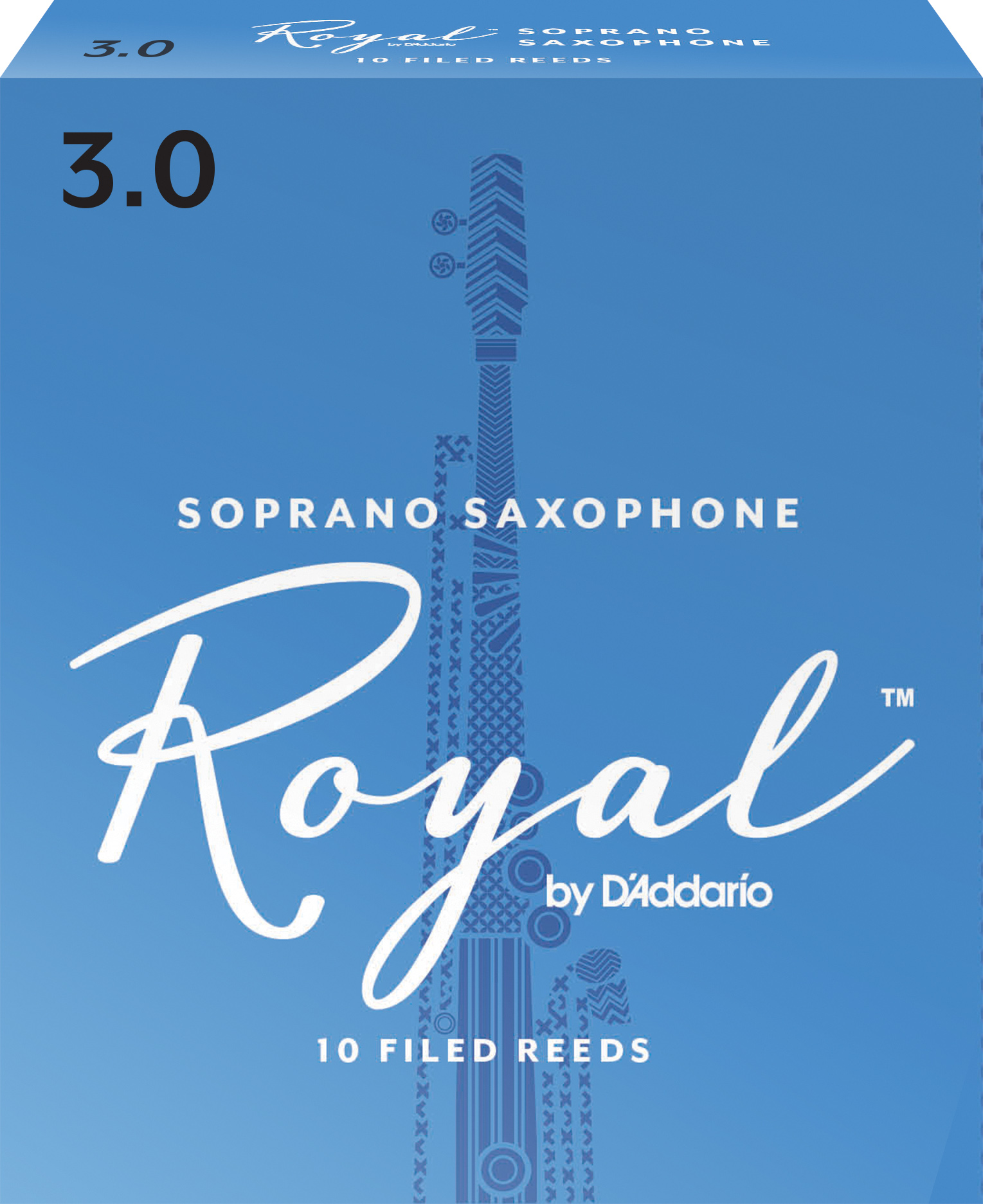 Royal by D'Addario Soprano Sax Reeds Strength 3 10-pack
