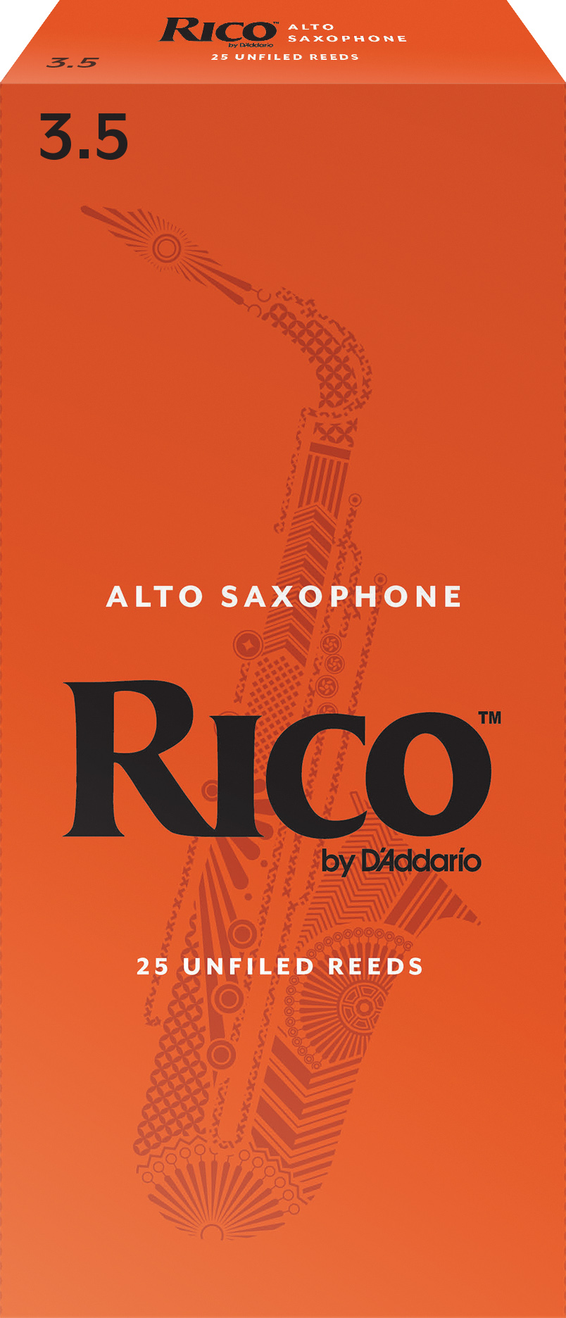 Rico by D'Addario Alto Sax Reeds 25-pack, Strength 3.5
