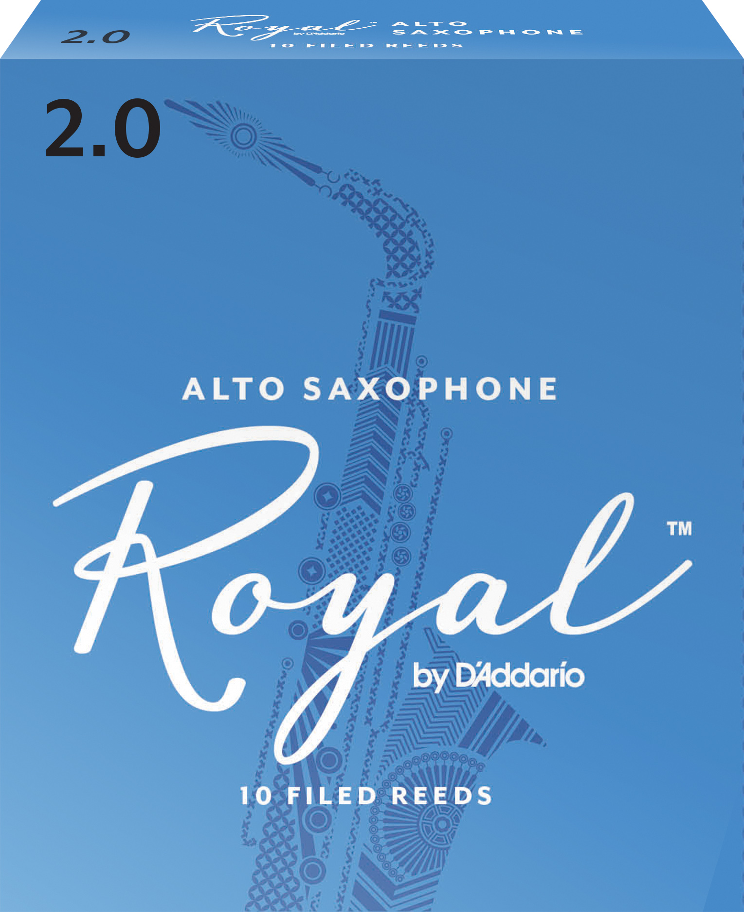 Royal by D'Addario Alto Sax Reeds, Strength 2, 10-pack