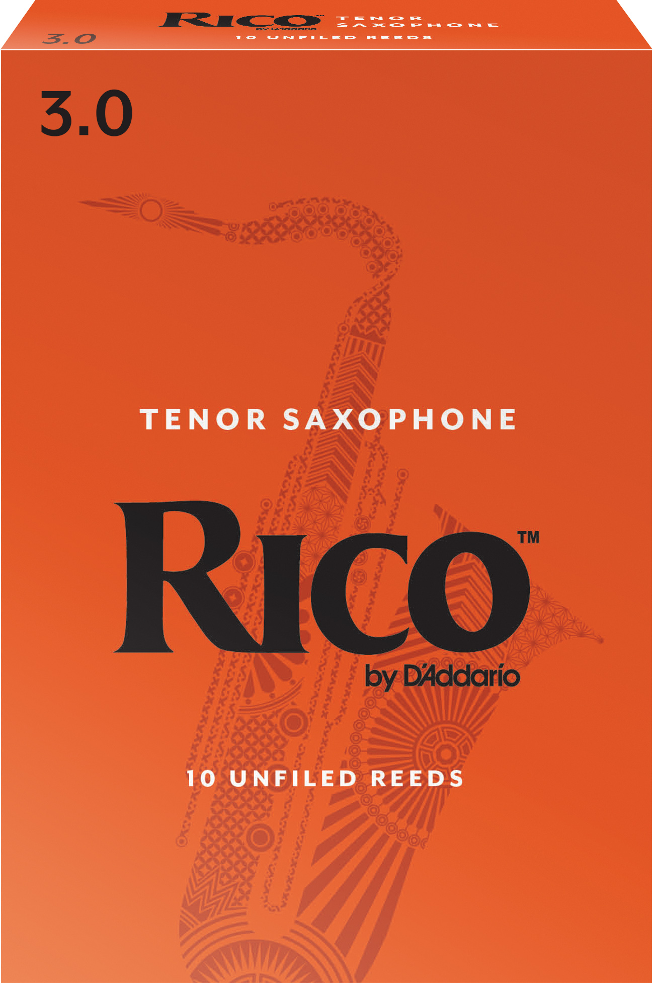 Rico by D'Addario Tenor Sax Reeds, Strength 3, 10-pack