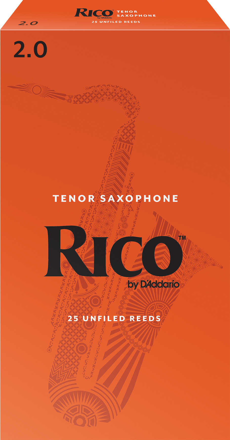 Rico by D'Addario Tenor Sax Reeds 25-pack, Strength 2