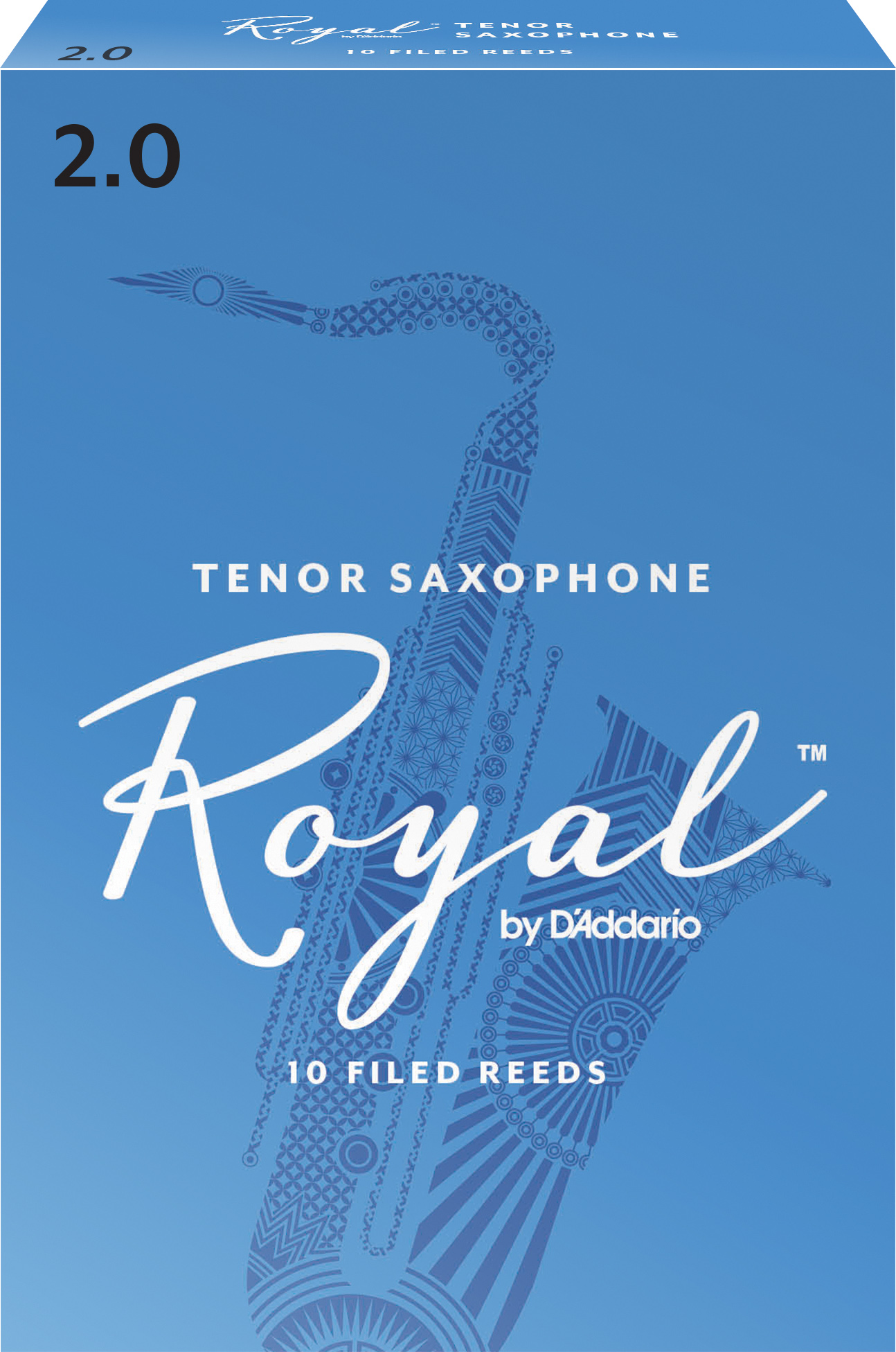 Royal by D'Addario Tenor Sax Reeds, Strength 2, 10-pack