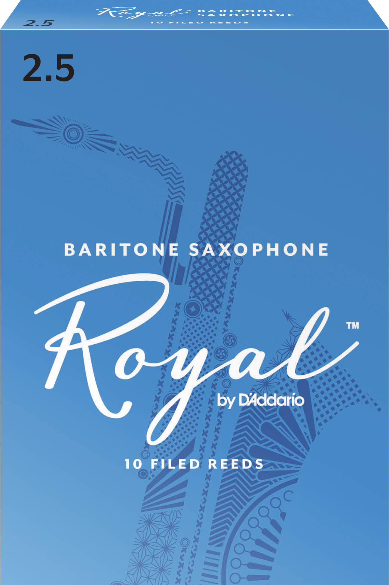 Royal by D'Addario Baritone Sax Reeds Strength 2.5 10-pack