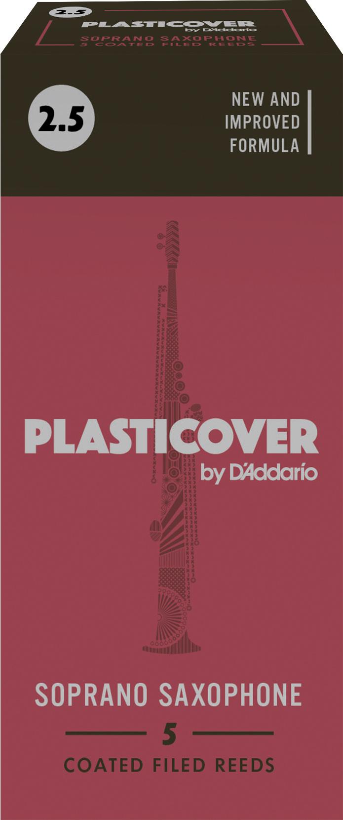 D'Addario Plasticover Soprano Sax Reeds 2.5, 5-pack