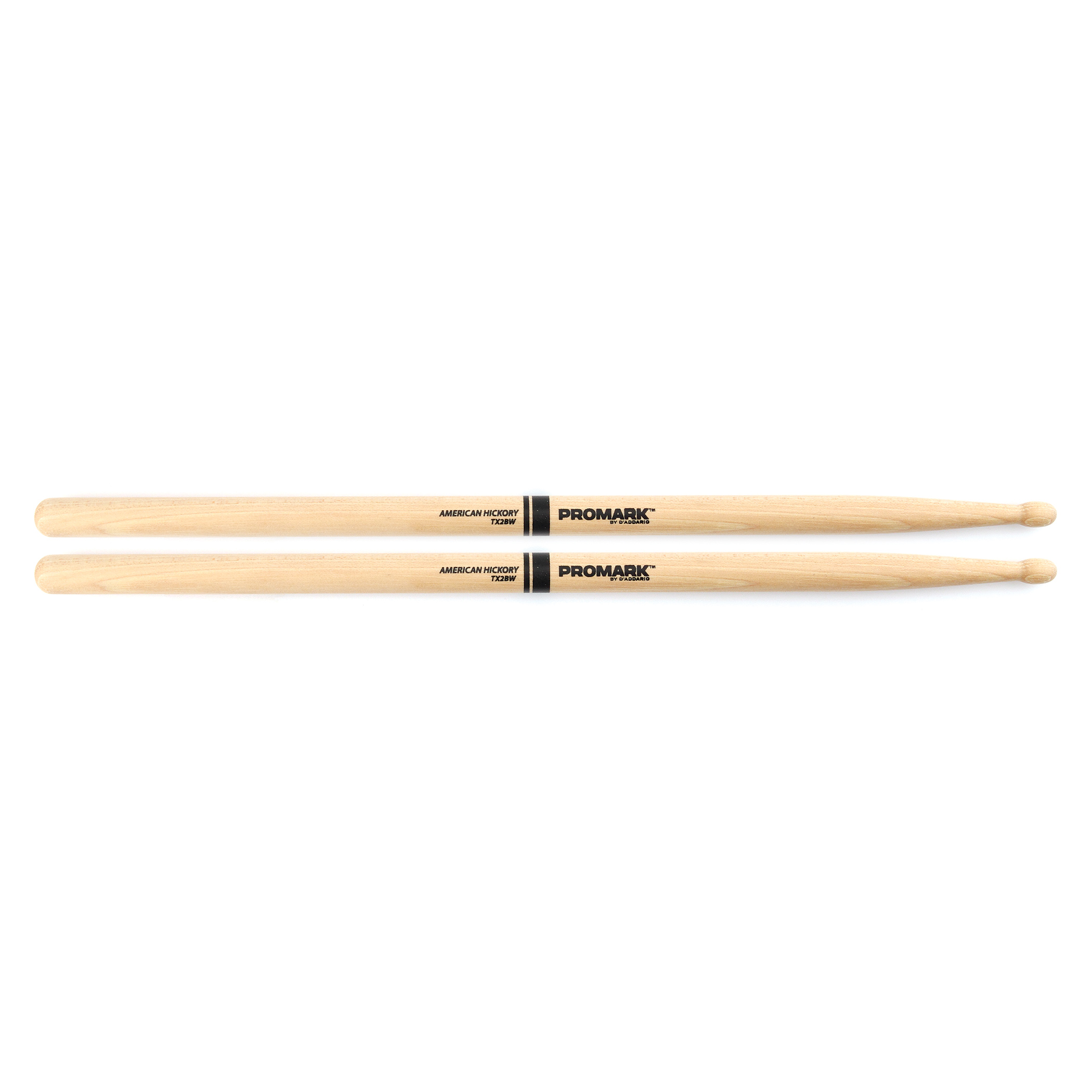 Promark Hickory Classic 2B Wood Tip Drumsticks