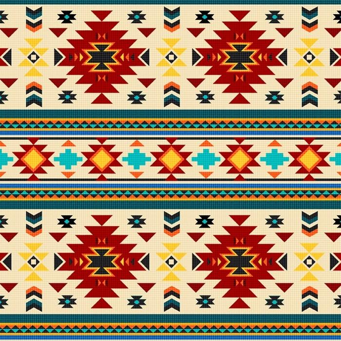 BEADED AZTEC RED/CREAM DT68477C1 David Textiles