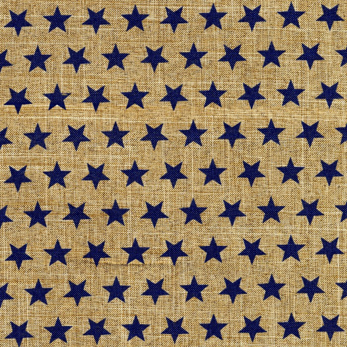 David Textiles - Patriotic Stars with Glitter /Linen Look