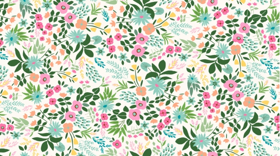Tropical Floral (Cream)