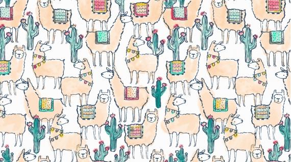 Llamaste (Knit)/White (Dear Stella)