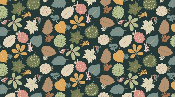 Leaf Wavers (Charcoal) - 1558