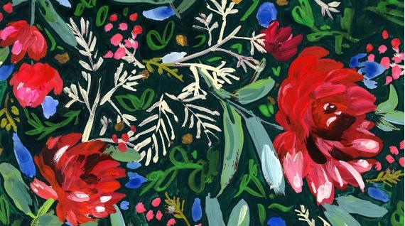 STELLA-DAW1581 Multi Holiday Blooms Digital Dear Stella