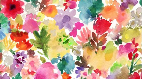 Floral Wash Fabric by Dear Stella