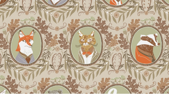 Fancy Animals/Wheat: Black Forest (Dear Stella)