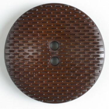 Button Round Dash 38MM Brown