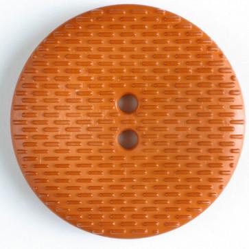 Dill Button Round Textured Orange 38MM