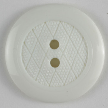 Dill Button Round White 15MM