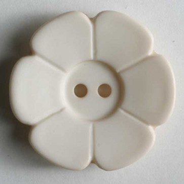 15 mm Flower Button Ivory