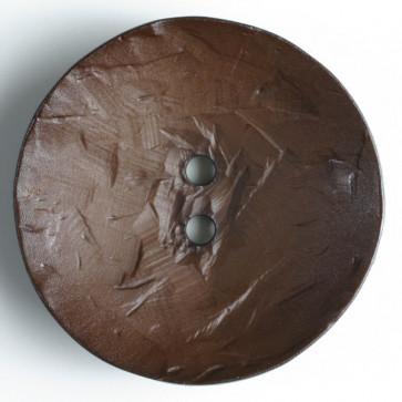 45 mm Round Button Brown