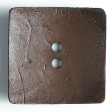 60 mm Square Button Dk Brown