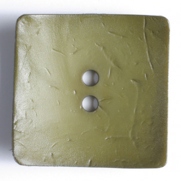 60 mm Square Button Olive Green