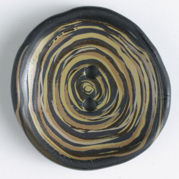 Dill Buttons 340817 13 black w/ gold rosette