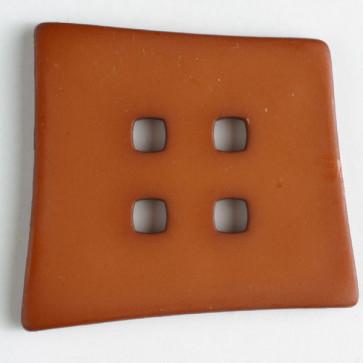 Dill button 55mm square 4 hole clay