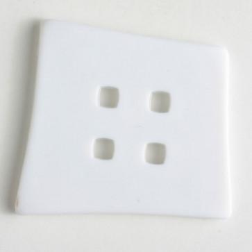 Dill Button Mod Square White 55MM