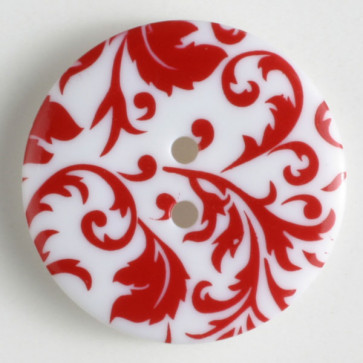 Button Scroll 25MM Red & White