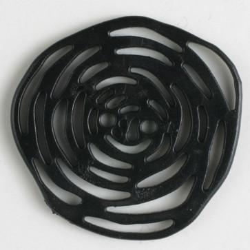 Dill Buttons 341030 13 black rosette